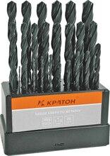 Набор сверл по металлу оксидированных КРАТОН d1-13 мм 25 шт