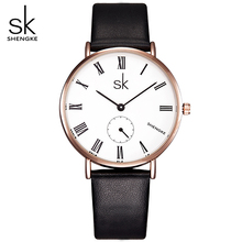 SK Women Fashion A separate small dial can work Lady Classic Design Wristwatches Ladies Gold Quartz