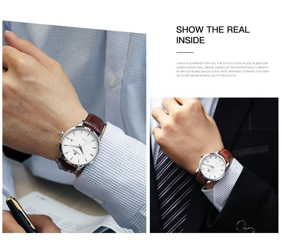 UTB82Po2M9nEXKJk43Ubq6zLppXaQ STARKING Mens Clock Automatic Mechanical Watch All Stainless Steel Simple Business Male Watch xfcs Luxury Brand Dress WristWatch