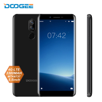 DOOGEE X60L 5.5 18:9 Mobile Phone Android 7.0 MTK6737 Quad Core 2G 16G 13MP Dual Rear Cameras 3300mAh 4G Smartphone Fingerprint