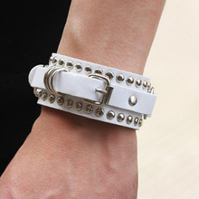 Rivet Buckle Belt Bracelet