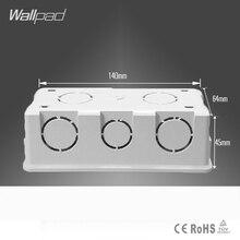 Адрель 140*64 мм кассета универсальная белая распределительная коробка для монтажа в стену для настенного выключателя и розетки задняя коробка