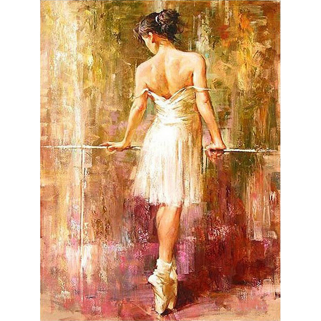 High Quality Ballet Dancer DIY Digital Painting By Numbers Abstract Kits Painting By Numbers With Inner Frame Paint By Yourself