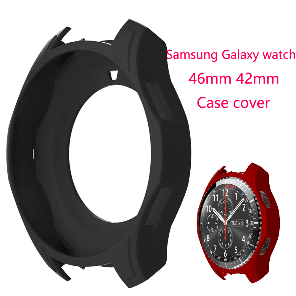 Gear S3 Frontier Case For Samsung Galaxy Watch 46mm 42mm Soft Silicone Protective Case Cover Frame Anti-fall Bumper Accessories