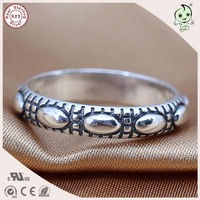 Prachtige Classic 100% Retro 925 Sterling Zilver Teen Ring