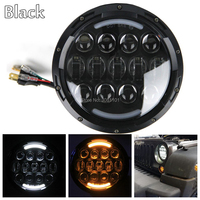 7 Inch 105W Round LED Headlights DRL For Jeep Wrangler JK LJ CJ TJ FJ Cruiser