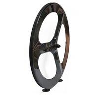 3 spoke wheels 23mm width carbon fiber material 700c 3 spoke road bike rims 60mm