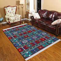 Más Nordec negro blanco ikat escandinavo geometría 3d imprimir antideslizante Kilim lavable decorativo Kilim alfombra, alfombra