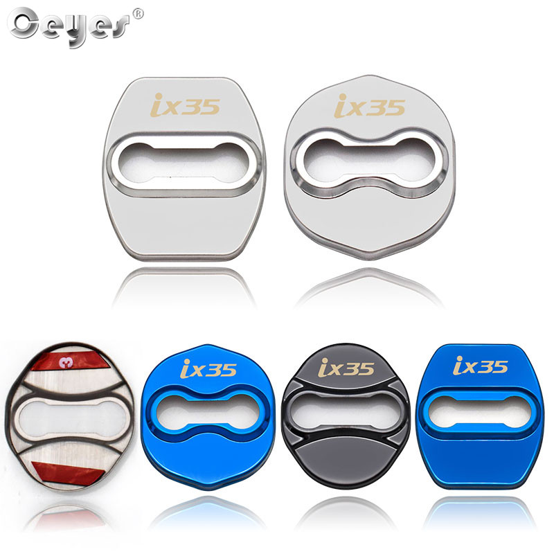 Ceyes Car Styling Stickers For Hyundai IX35 For <font><b>Kia</b></font> K2 Sportage QL Decoration Protection Door Lock Covers Case Auto Accessories image