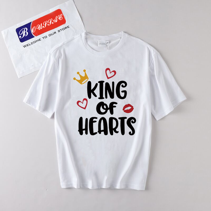 King And Queen Lettered Printed T Shirt Harajuku 2019 Summer Funny T Shirts Women cotton Tops Tee Fashion Vintage Women Clothes in T Shirts from Women 39 s Clothing