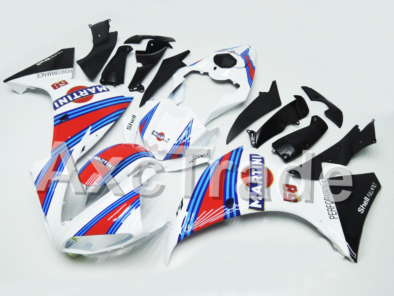Motorcycle Fairings For Yamaha YZF R1 1000 YZF-R1 YZF-R1000 2009 2010 2011 ABS Plastic Injection Fairing Bodywork Kit No58 high quality abs fairing kit for yamaha r1 2002 2003 red flames in black fairings set injection molding yzf r1 02 03 yz32