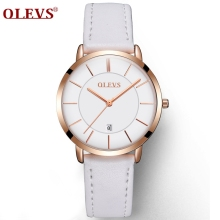 Genuine Watches OLEVS Luxury Women Rose Gold Watch Casual Quartz Ladies Watch Leather Wristwatch Waterproof Clock Relojes Mujer