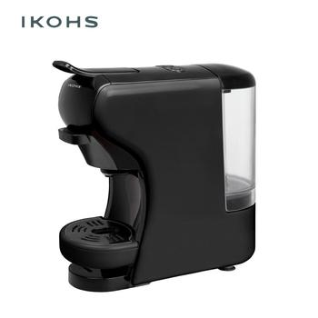 IKOHS POTTS Automatic Coffee Machine Express Black Color Capsules of Dolce Gusto Nespresso and  for Ground Coffe 0.7L 1450W
