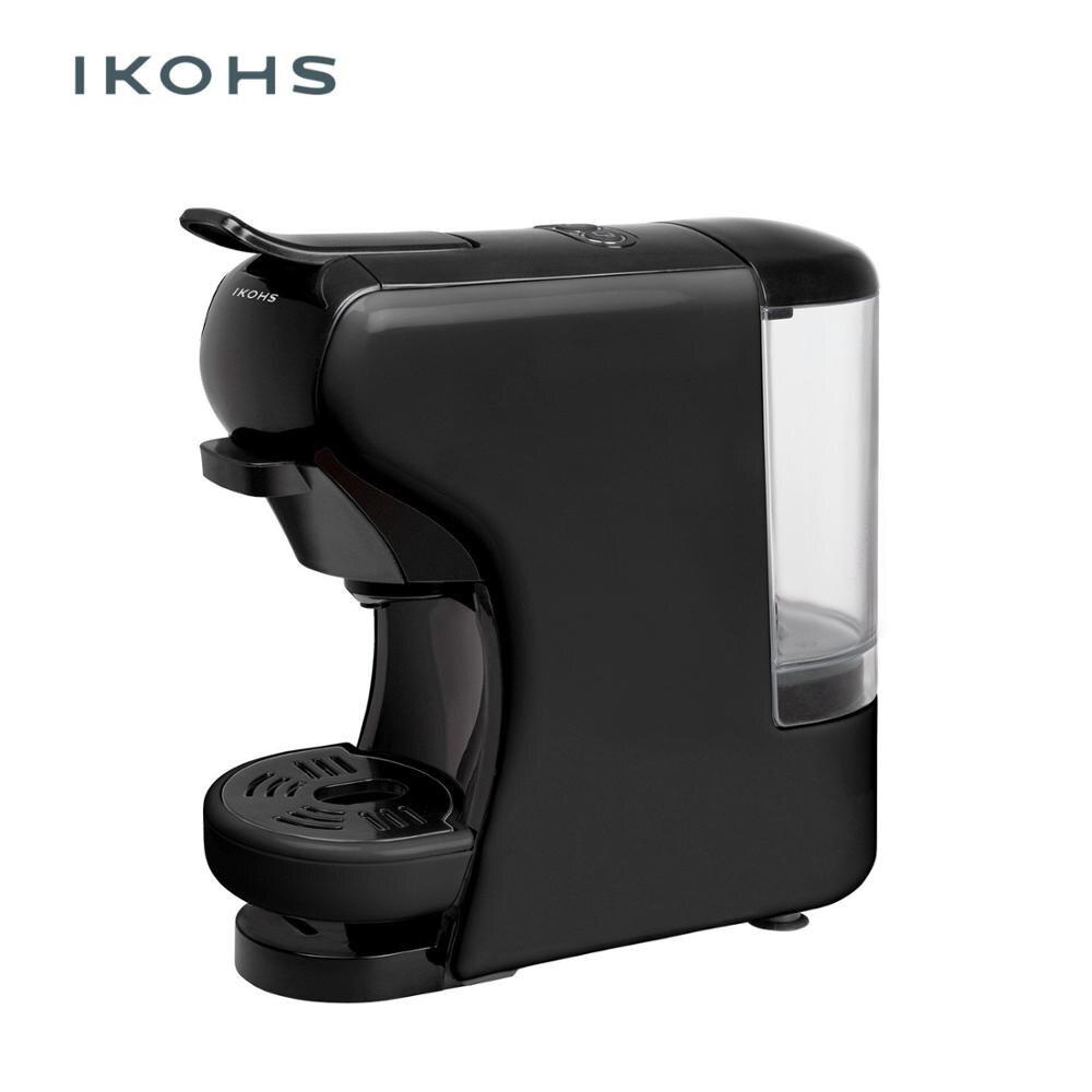 POTTS IKOHS Automático Máquina de Café Expresso Cor Preta 0.7L Cápsulas de Café Nespresso Dolce Gusto e para o Chão 1450W