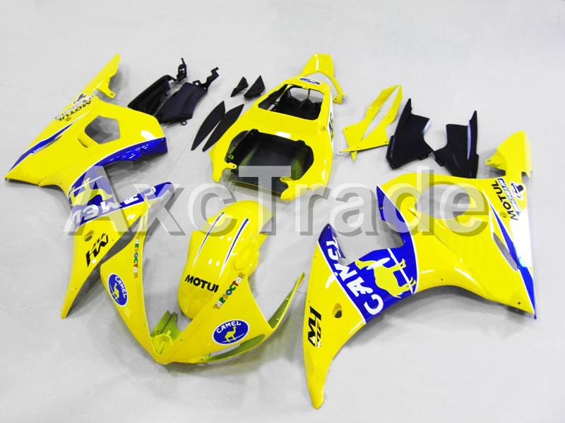 Motorcycle Fairings For Yamaha YZF600 YZF 600 R6 YZF-R6 2003 2004 2005 03 04 05 ABS Injection Molding Fairing Bodywork Kit B413 hot sales yzf600 r6 08 14 set for yamaha r6 fairing kit 2008 2014 red and white bodywork fairings injection molding