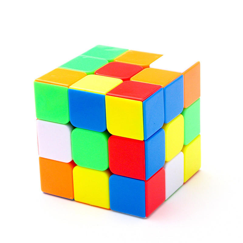 3x3x3 Boys Magic Speed Cube Stickerless Puzzle Cube Professional Puzzle Magic Cube Classic Educational Toys for Adults Gifts