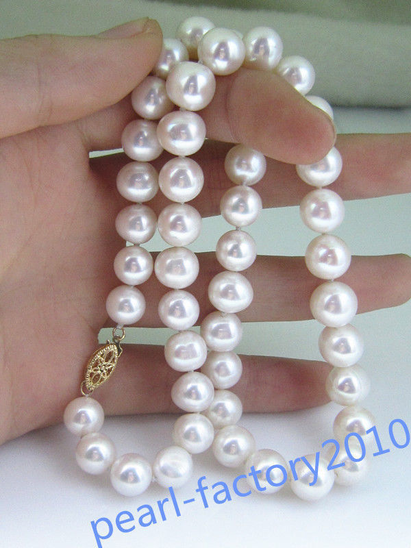18 AAA 10-11 MM SOUTH SEA NATURAL White PEARL NECKLACE CLASP>>>girls choker necklace pendant Free shipping18 AAA 10-11 MM SOUTH SEA NATURAL White PEARL NECKLACE CLASP>>>girls choker necklace pendant Free shipping
