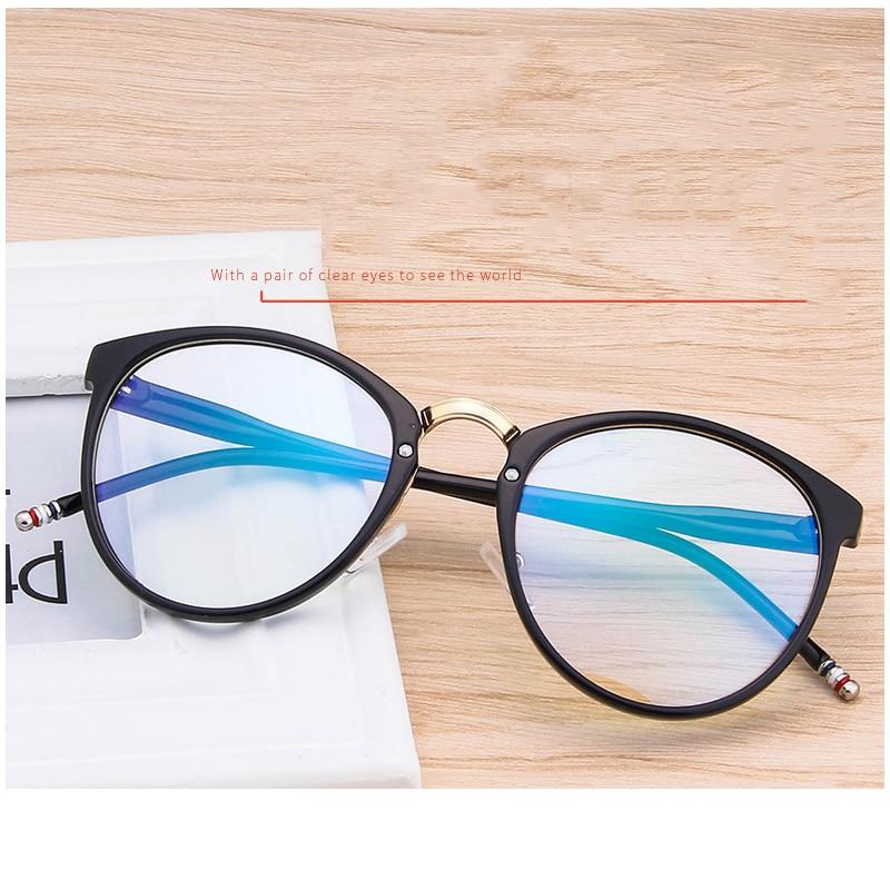 Fein Klassische Oval Große Rahmen Schöne Gläser Rahmen Mode Persönlichkeit Gläser Beine Können Ausgestattet Werden Mit Myopie Gläser Rahmen.