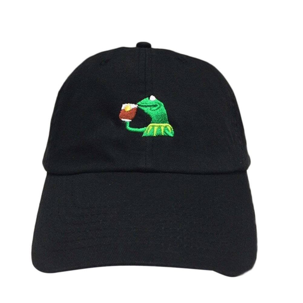 None Of My Business Dad Hat Cap Black Frog Sipping Tea Lebron James Kendrick Lamar Untitled Unmastered Hat Casquette
