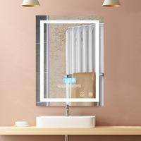 2018 Modern Bathroom LED Light Mirror Waterproof Wall Mounted Illuminated Lighted Vanity Mirror W/Bluetooth Speaker New HWC