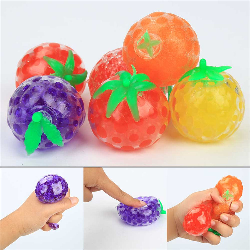 Color Random Fruit Shape Water Ball Soft Crystal Soil Ball Magic Toys Small Bolus Small Bolus Pretty Toys For Kids