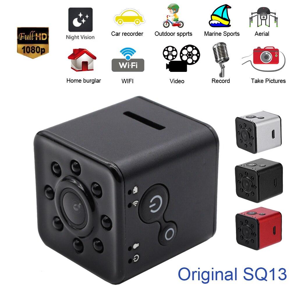 лучшая цена Original SQ13 Mini Camera WiFi Cam Full HD 1080P Sport DV Recorder 155 Night Vision Small Action Camera Camcorder DVR pk sq12 11