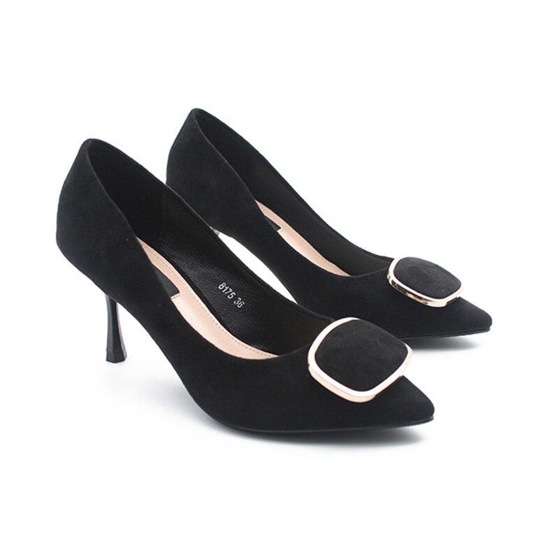 Vrouwen mode schoenen medium hoge hakken pompen werk schoenen office wear fashion comfortabele vrouwen schoenen-in Damespumps van Schoenen op  Groep 3