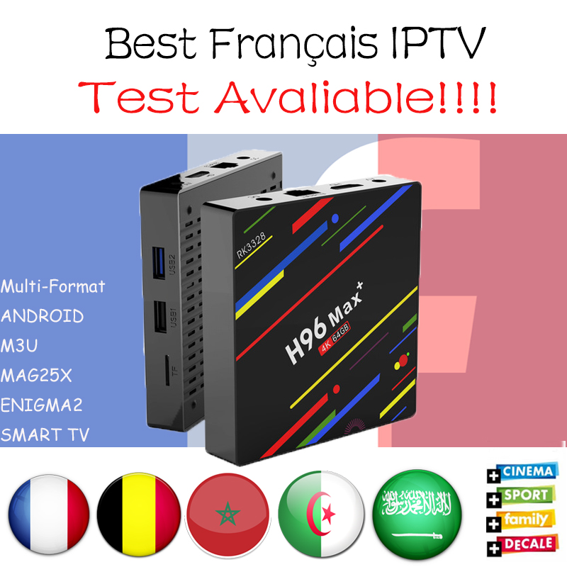 France Arabic IPTV Box H96 MAX Plus 4G+32G 4G+64G Android 8.1 TV Box 1300 Lives 1500 VOD Europe France Morocco IPTV Media Player ugoos ut3s android linux dual boot rk3288 4g 32g media player