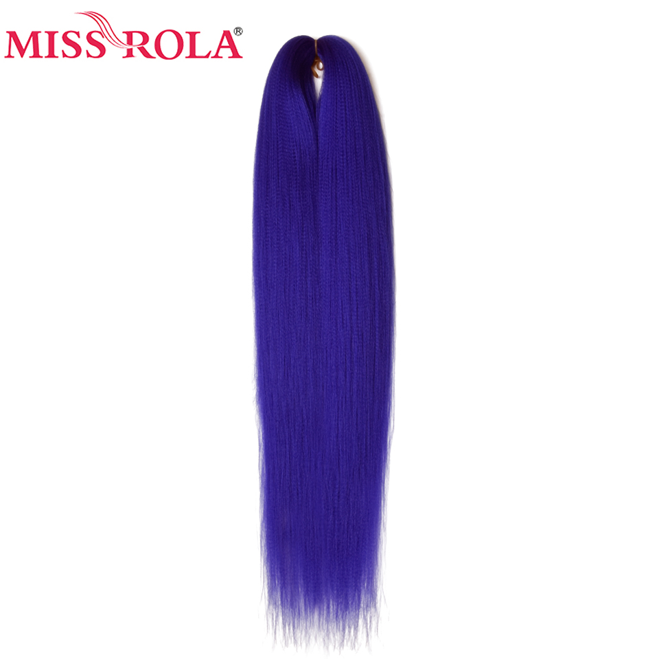 Miss Rola 24 Inches100g Yaki Straight Synthetic Hair Extension Pre Stretched Crochet Jumbo Braids Kanekalon Hair Braiding