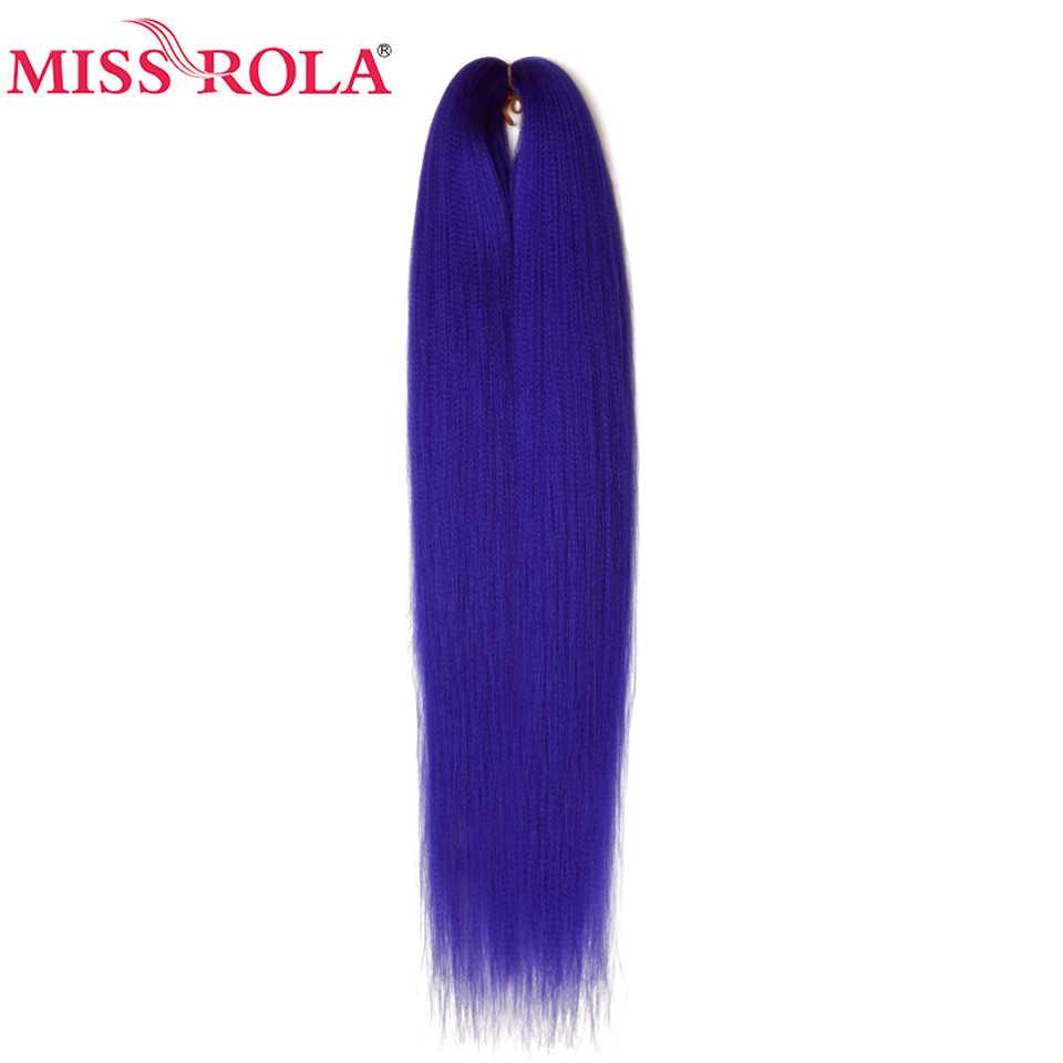 Miss Rola 24 Inches100g Yaki прямые синтетические волосы для наращивания предварительно растянутые вязанные крючком огромные косы канекалон плетение волос