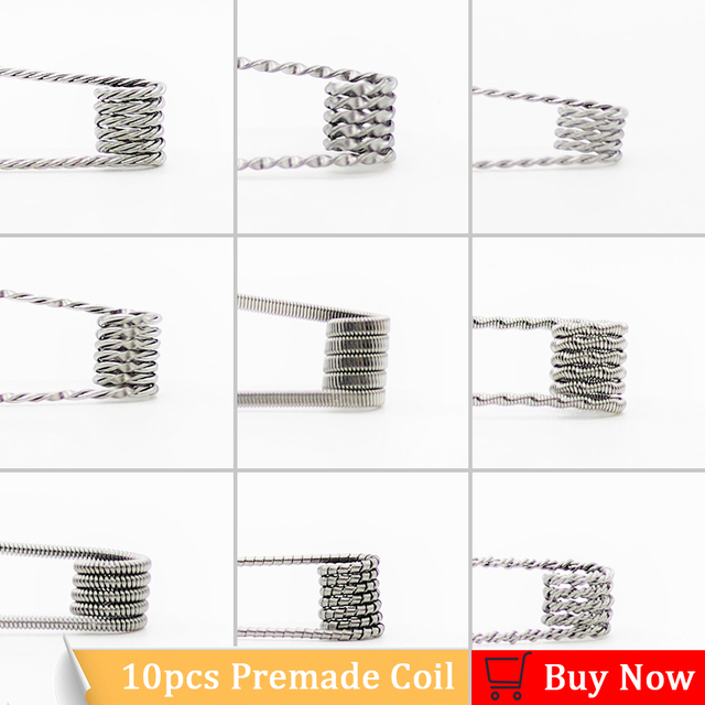 Vapegun 10pcs alien clapton coil flat twisted fused clapton quad vapegun 10pcs alien clapton coil flat twisted fused clapton quad tiger heating wire vape resistance premade keyboard keysfo Choice Image
