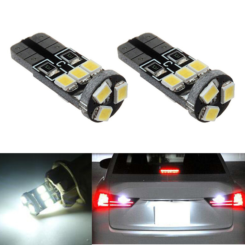 2x T10 W5W License Number Plate Light LED Bulbs Lamp For Nissan Juke Micra III (K12) Micra IV (K13) Note (E11)