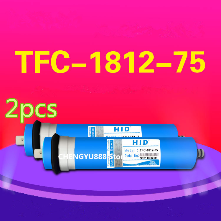 2pcs 75 gpd reverse osmosis filter HID TFC-1812 -75G Membrane Water Filters Cartridges ro system Filter Membrane hmtec ro reverse osmosis membrane filter 1812 50g 75 2012 100 125 150