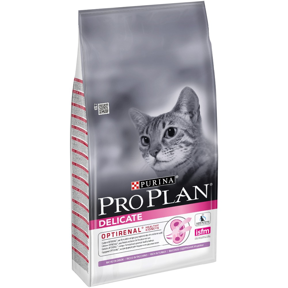 dry pro plan food for cats with sensitive digestion and fastidious for eating with turkey 10 kg Pro Plan Delicate for cats with sensitive digestion, Turkey, 10 kg.
