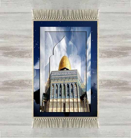 Else Blue Sky Golden Mosque 3d Turkish Islamic Muslim Prayer Rugs Tasseled Anti Slip Modern Prayer Mat Ramadan Eid Gifts