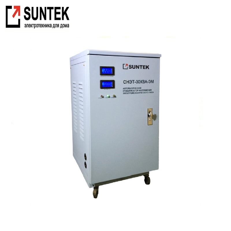Voltage stabilizer SUNTEK 30000 VA EM Electromechanical stabilizer Power stab Constant voltage unit Automatic voltage regulator generator avr se350 voltage regulator se350 voltage stabilizer voltage governor