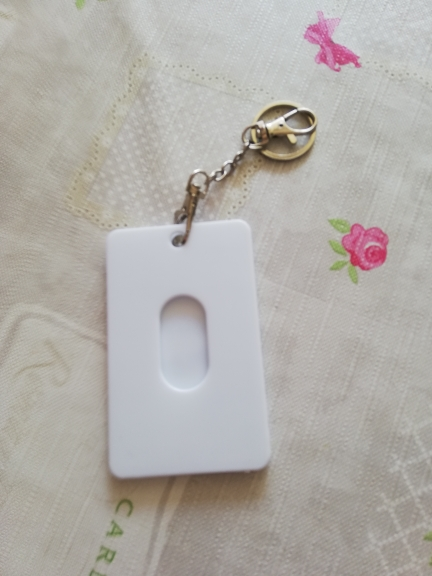 Fashion Lovely Women Men Bus ID Card Holder Case Badge Key Ring Keychain Gift photo review