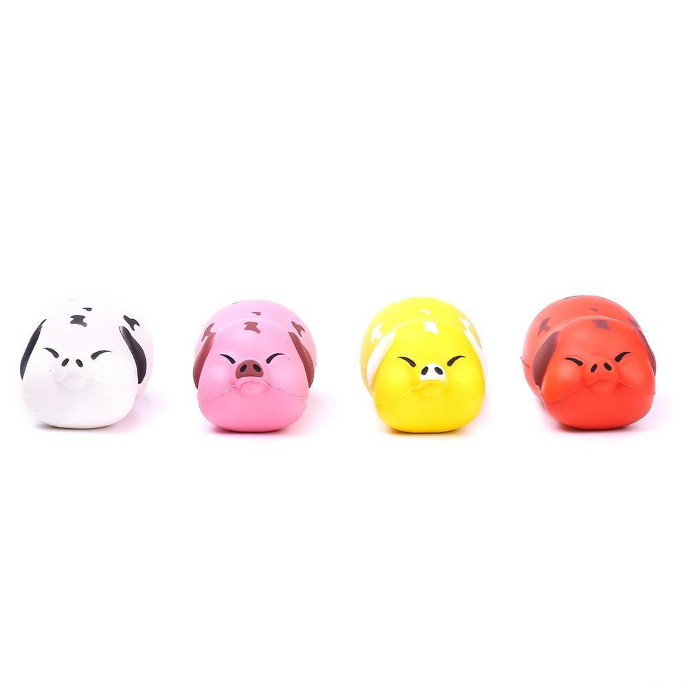 2017 New Pig Cartoon Kawaii Cute Animal Slow Rising Sweet Scented Bread Cake Fun Kids Toy Gift Doll Fun Wholesales