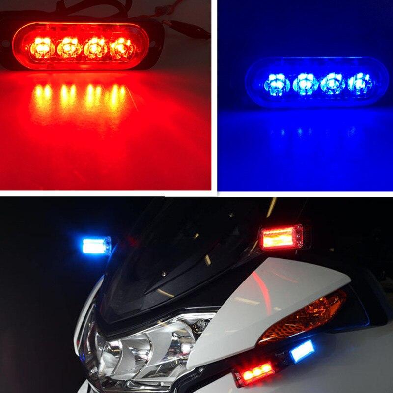 12В-24В 4 светодиодных автомобилей свет Строба полиция свет Строб вспышки световой панели приборов аварийного автомобиля мигающий свет Янтарный