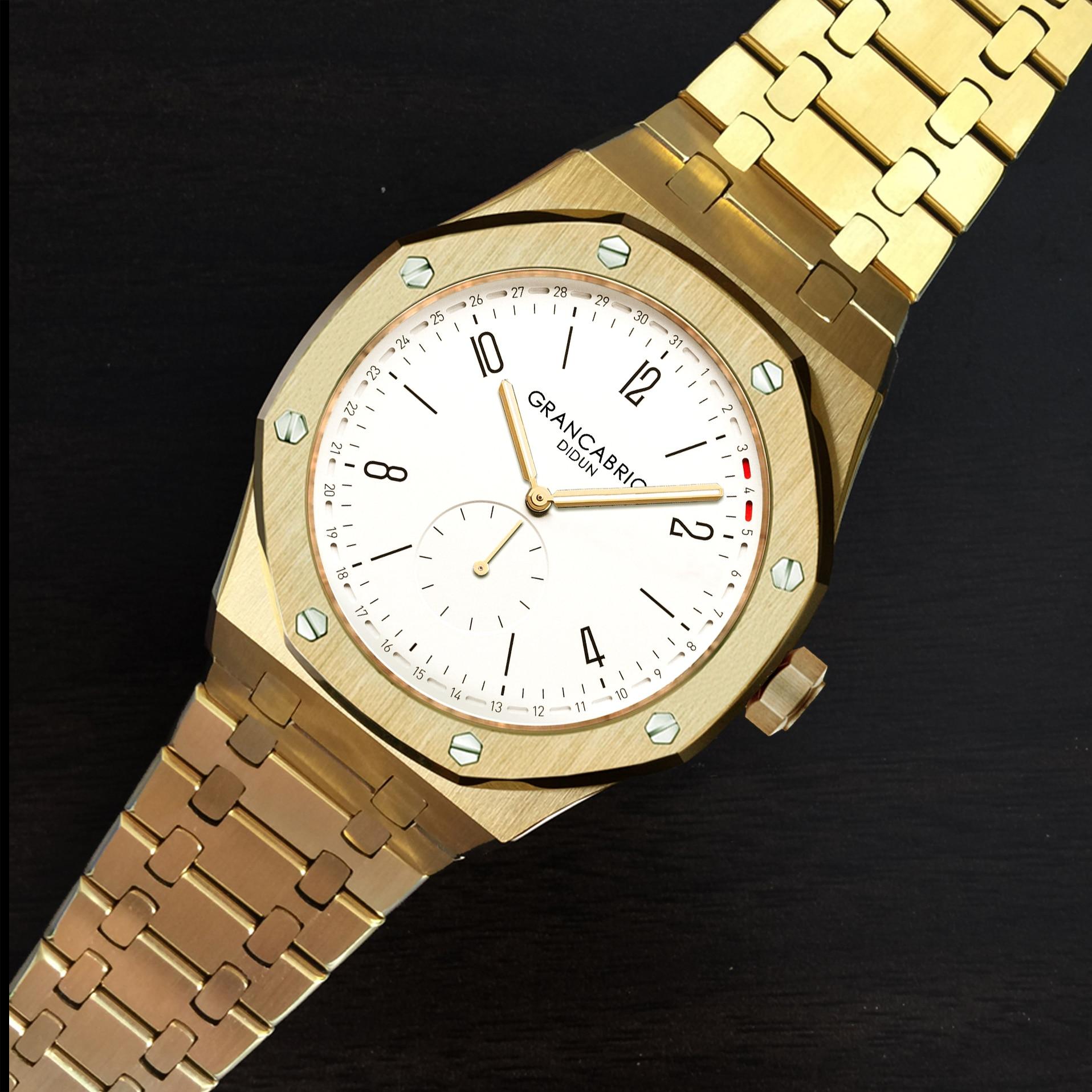 oDIDUN watch Mens Top Brand Luxury Watch Men Military Watch Shockproof 30m Waterproof Business Luminous Quartz Stainless steel-in Quartz Watches from Watches    3
