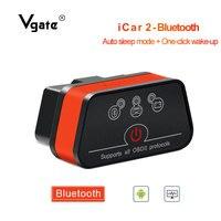 Vgate ELM 327 scanner de Diagnóstico do carro do OBD OBD2 iCar2 adaptador Bluetooth odb2 OBDII leitor de código de elm327 PK Elm327 V1.5 PIC18F25K80
