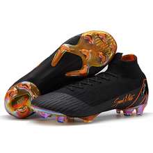 3bc09f3309 sufei Soccer Shoes High Ankle Superfly Football Boots Long Spikes FG Men  Adults Kids Original Outdoor