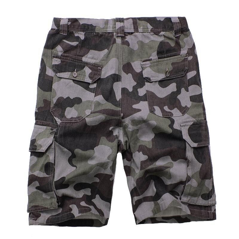 Для мужчин камуфляж Повседневное Пляжные шорты модные камуфляж Военная Униформа работа грузов Шорты для женщин мужские короткие тренировк...