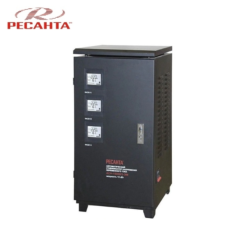 все цены на Three phase voltage stabilizer RESANTA ASN 15000/3 Triphase Voltage regulator Monophase Mains stabilizer Surge protect онлайн