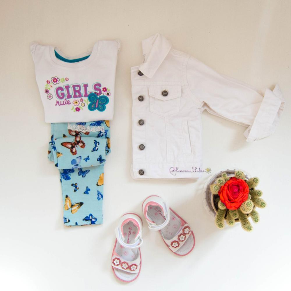 Белый джинсовый пиджак Carter`s для девочки с Алиэкспресс