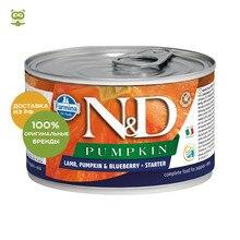 N&D Dog Pumpkin Starter Mini консервы для беременных и кормящих сук, Ягненок, тыква и черника, 140 г.