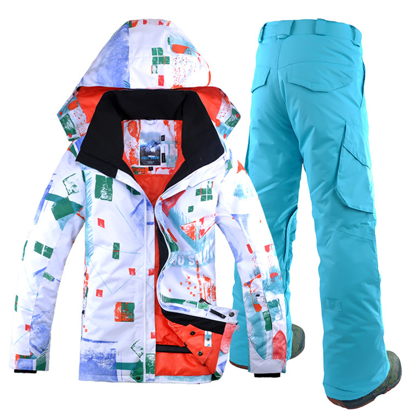 GSOU SNOW Men Ski Suit Snowboard Jacket Pant Windproof Waterproof Breathable Thermal Male Outdoor Sport Wear Skiing Snowboard 2018 gsou snow men ski jacket snowboard clothing windproof waterproof thermal breathable male clothing outdoor sport wear winter