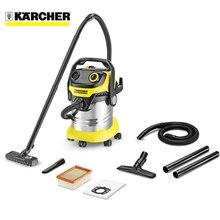 Пылесос электрический Karcher WD 5 Premium Renovation Kit (Объем пылесборника - 25 л, HEPA фильтр, шланг 2,2 м, кабель - 5 м, для сухой и влажной уборки, мощность 1100 Вт)