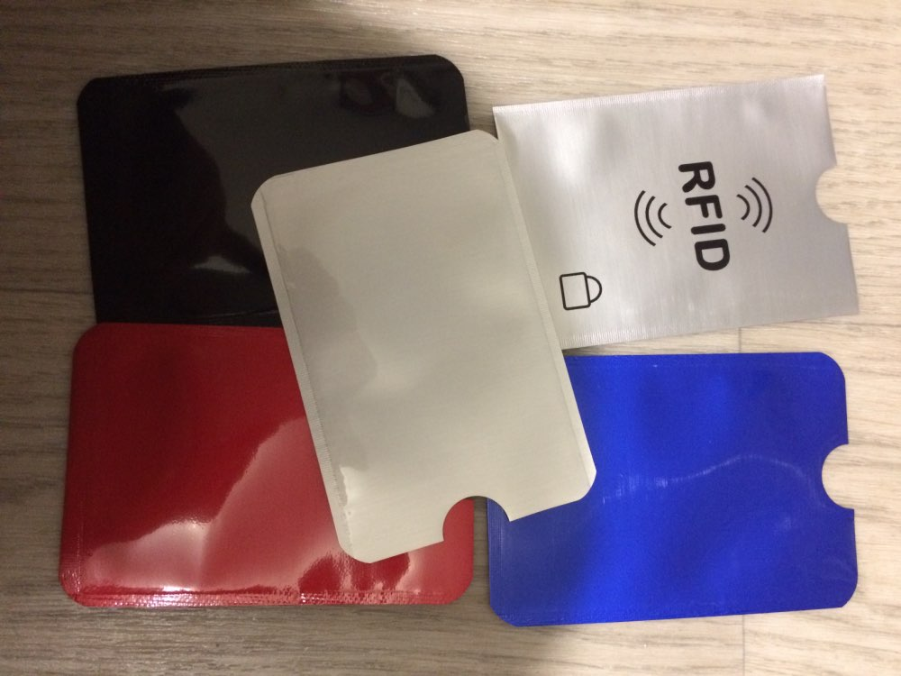 Anti Rfid Wallet Blocking Reader Lock Bank Card Holder Id Bank Card Case Protection Metal Credit Card Holder Aluminium 6*9.5cm photo review