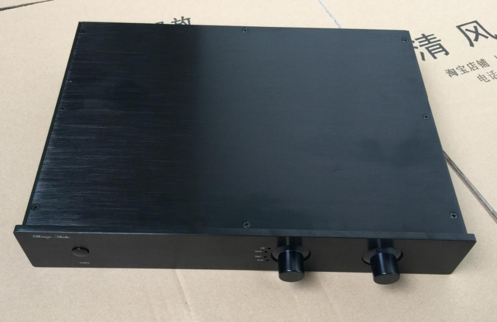 4307 All Aluminum Chassis Preamplifier Case Amplifier Enclosure 430*70*308mm стоимость